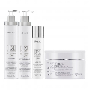 Kit Shampoo Condicionador Máscara e Leave-in Luxe Creations Regenerative Care - Amend