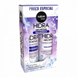 Kit Shampoo e Condicionador Hidra Meu Ritual 300ml - Salon Line
