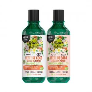 Kit Shampoo e Condicionador Maria Natureza Leite de Coco e Óleo de Monoi 350ml - Salon Line