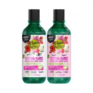 Kit Shampoo e Condicionador Maria Natureza Poder das Castanhas 350ml - Salon Line