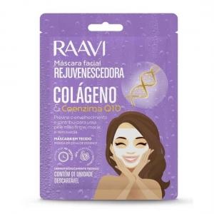Máscara Facial Rejuvenescedora Colágeno e Coenzima Q10  1 unidade - Raavi