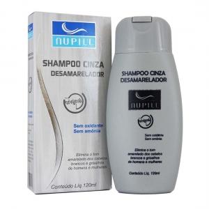 Shampoo Cinza Desamarelador 120ml - Nupill