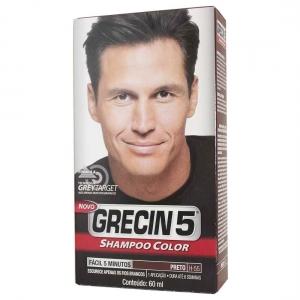 Shampoo Color Preto 60ml - Grecin 5