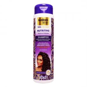 Shampoo S.O.S Cachos Nutritivo Nutre e Hidrata 300 ml - Salon Line