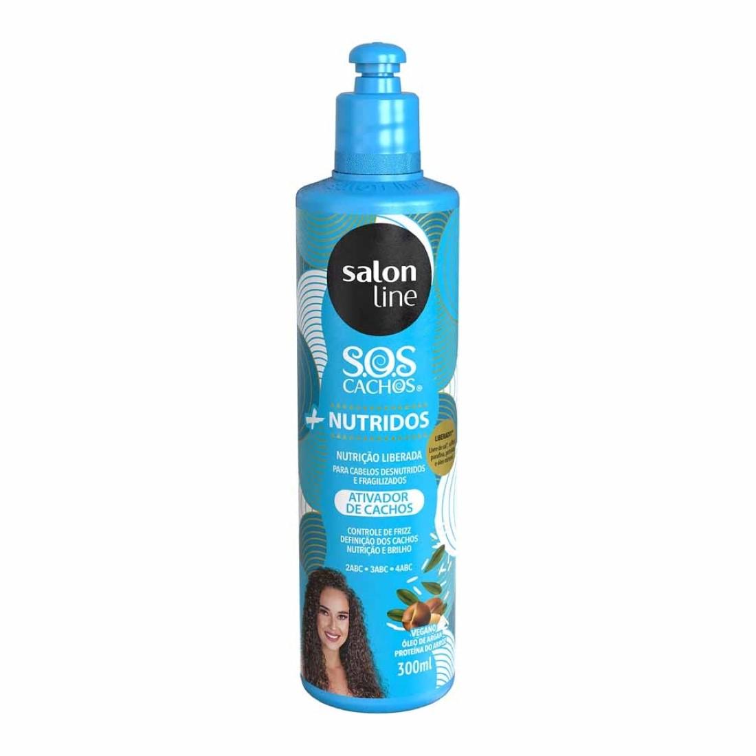 Ativador de Cachos S.O.S Cachos Argan 300ml - Salon Line