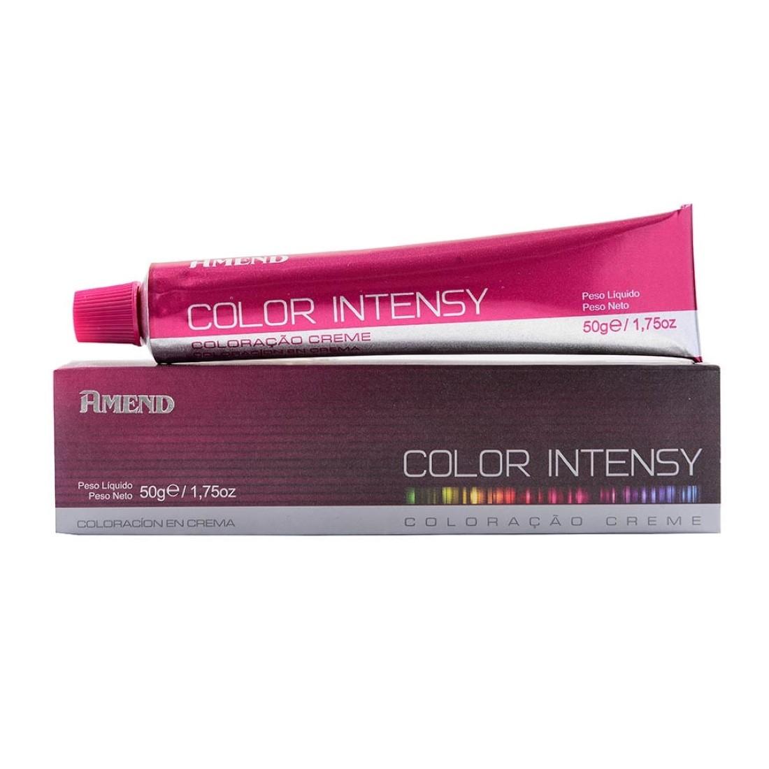Coloração Color Intensy Proteína da Seda 6.7 Louro Escuro Marrom Chocolate 50g - Amend