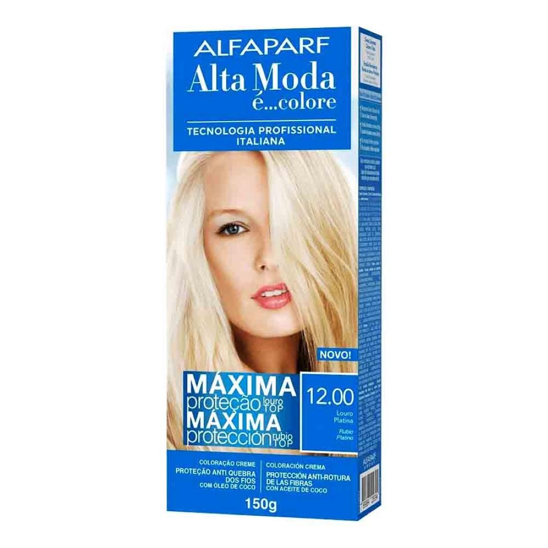 Coloração Creme Nº12.00 Louro Platina Alta Moda 150g - Alfaparf