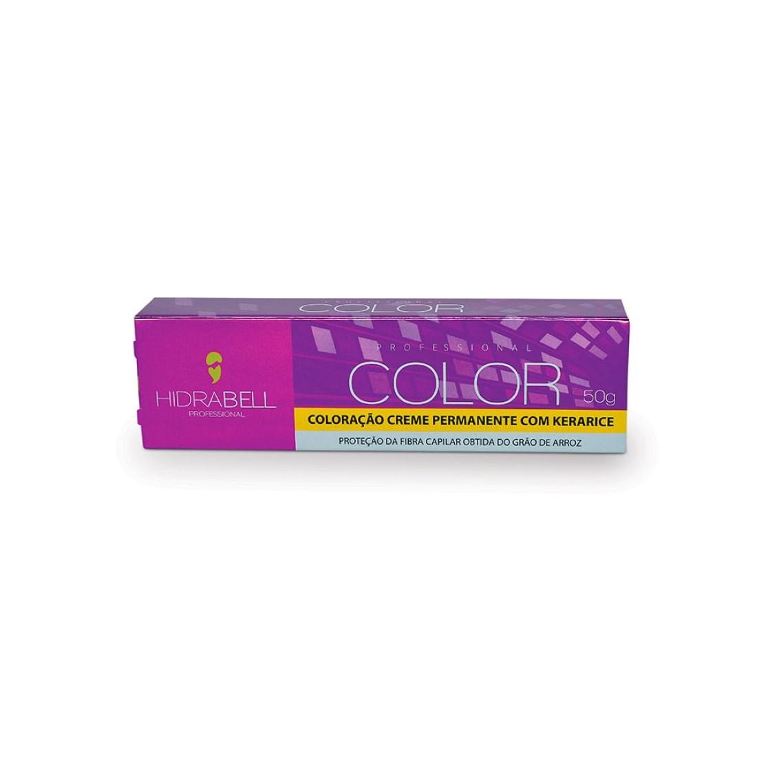Coloração Creme Permanente 7.4 Louro Médio Cobre 50g - Hidrabell