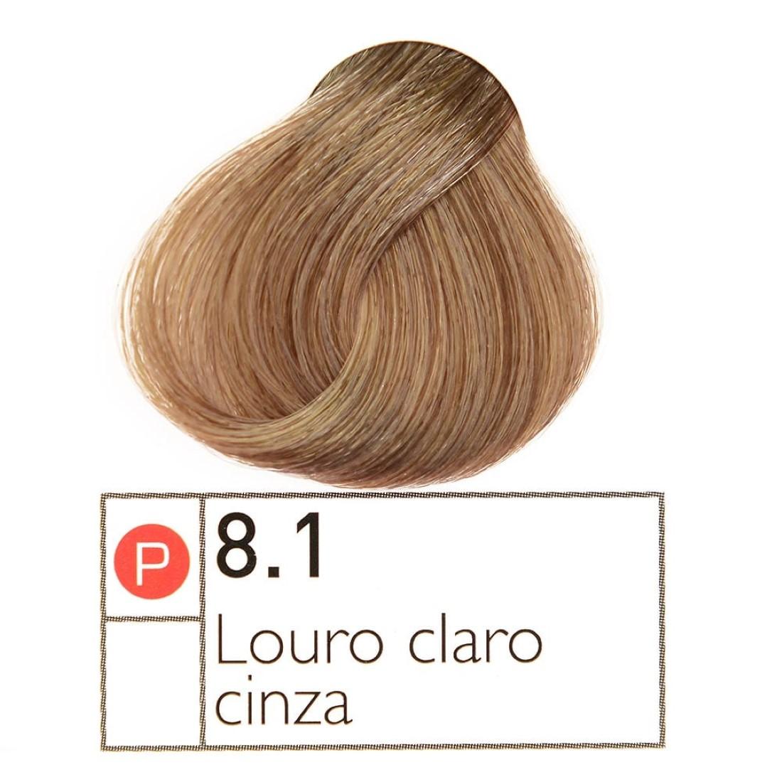 Coloração Instantly Collor Louro Claro Cinza 8.1 - Alpha Line