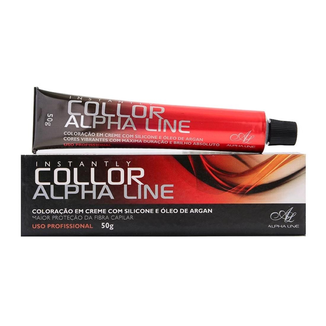 Coloração Instantly Collor Louro Escuro Marrom Acinzentado 6.71- Alpha Line