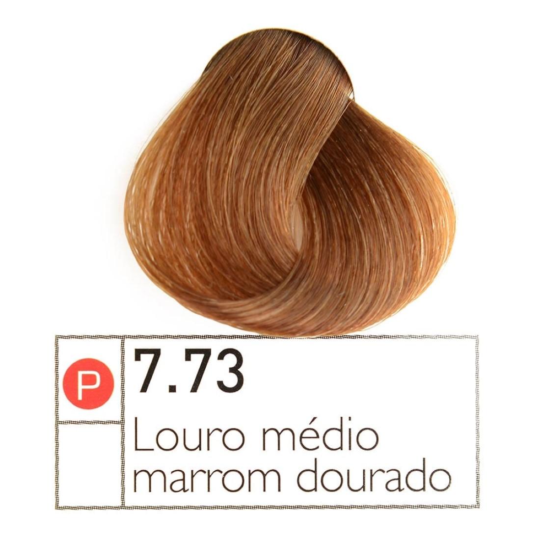 Coloração Instantly Collor Louro Médio Dourado 7.73 - Alpha Line