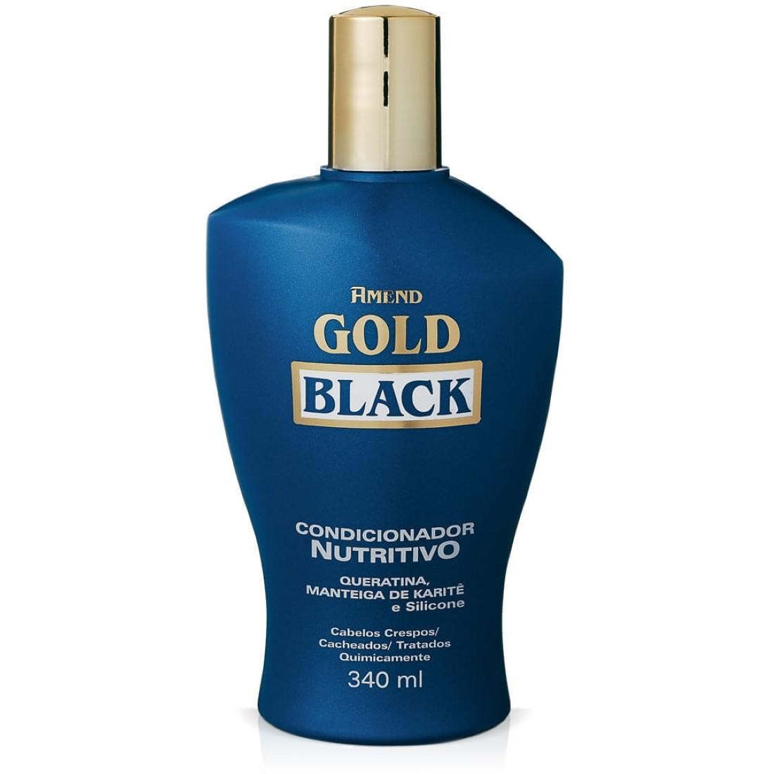 Condicionador Nutritivo Gold Black 340ml - Amend