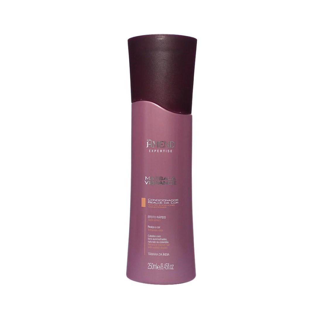 Condicionador Realce da Cor  Marsala Vibrance 250ml - Amend