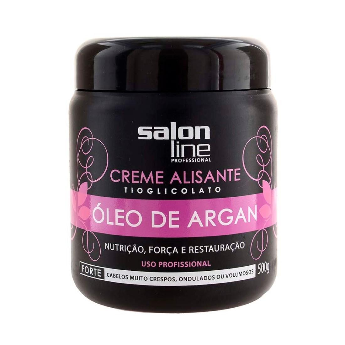 Creme Alisante Tioglicolato Óleo de Argan Forte 500g - Salon Line