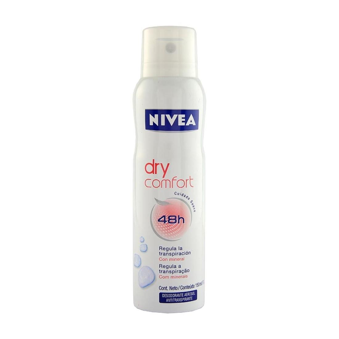 Desodorante Feminino Aerosol Dry Comfort 24h 150ml - Nivea