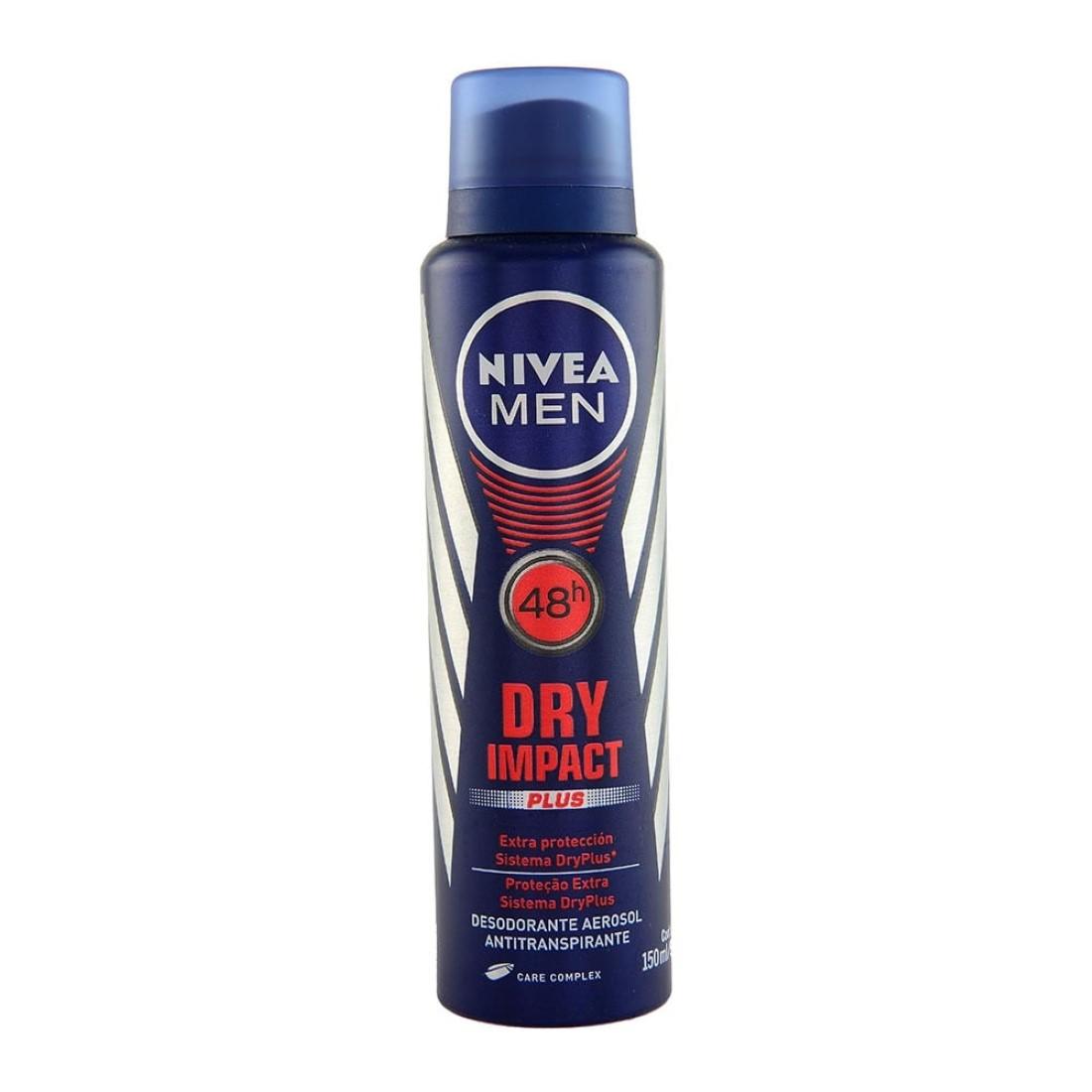Desodorante Masculino Aerosol Dry Impact 48h 150ml - Nivea