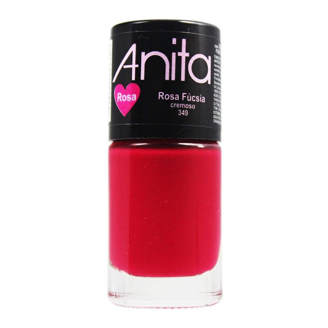 Esmalte Cremoso Coleção Rosa Rosa Fúcsia 10ml - Anita