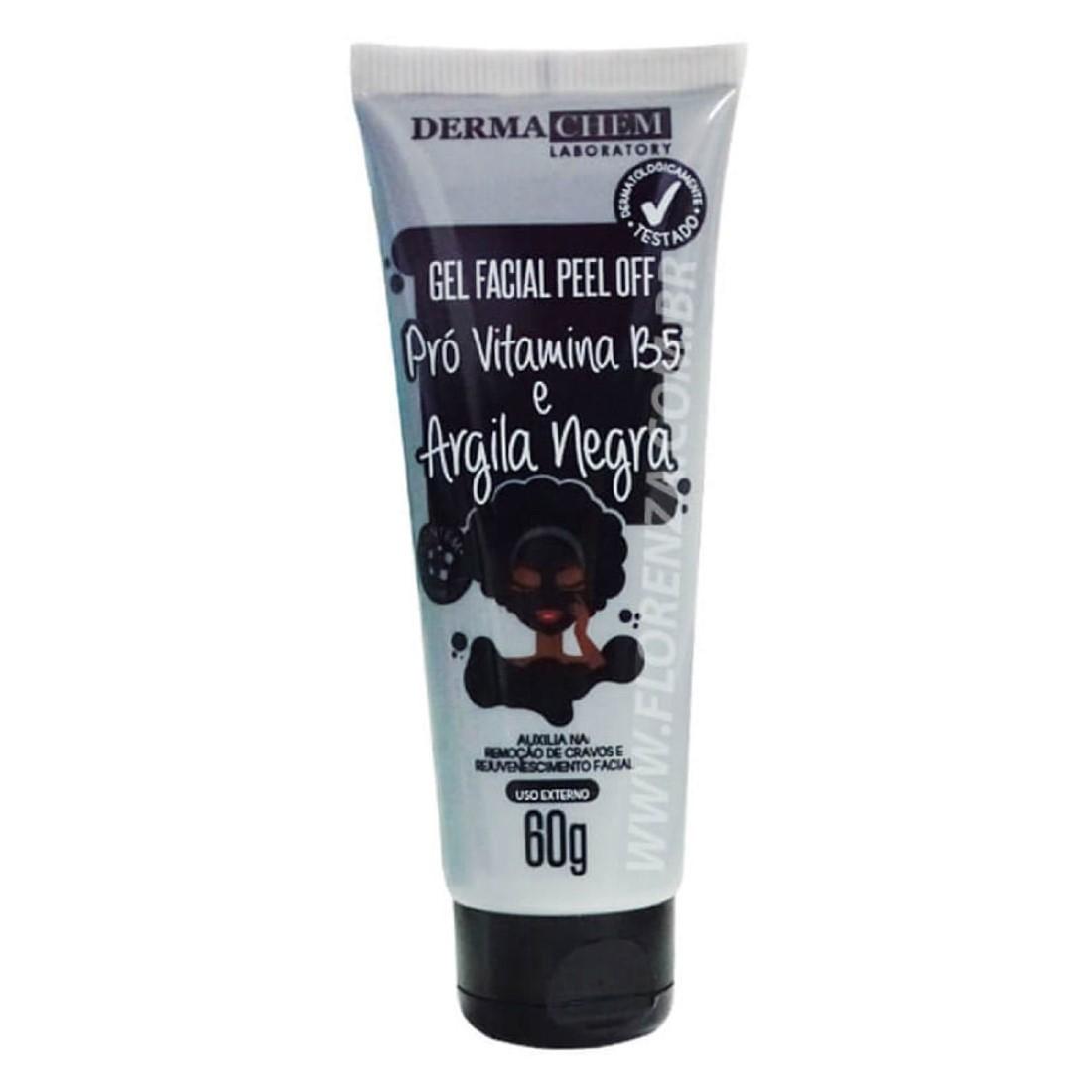 Gel Facial Peel Off Pró Vitamina B5 e Argila Negra 60g - Derma Chem