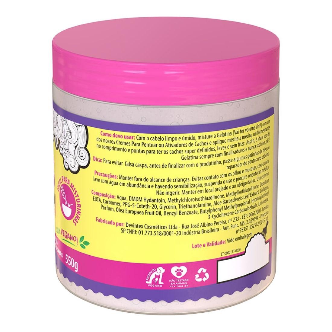Gel Mix para Misturinhas Gelatina Vai Ter Volume Sim! #ToDeCacho 550g - Salon Line