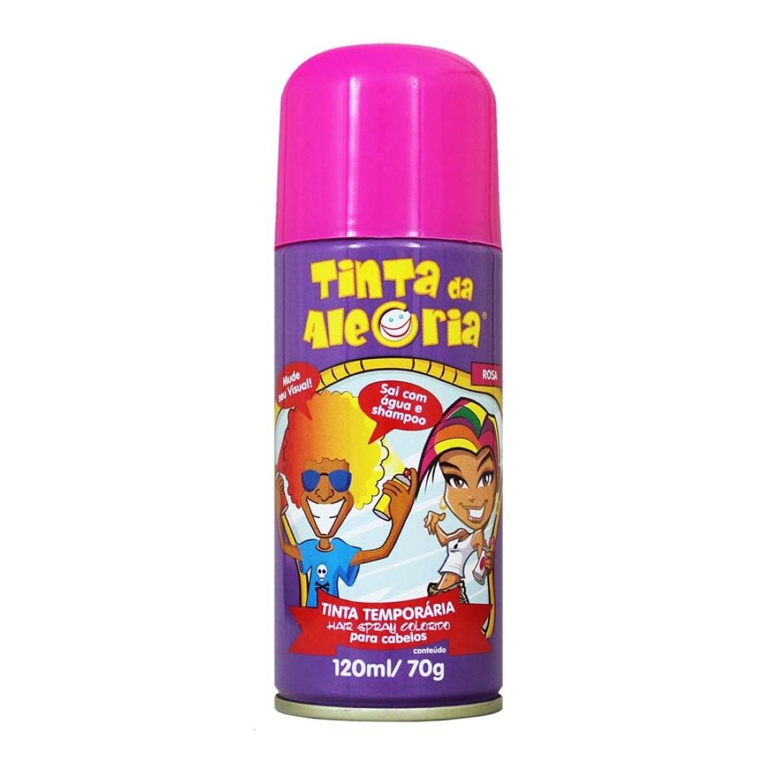Hair Spray Colorido Rosa 120 ml - Tinta da Alegria