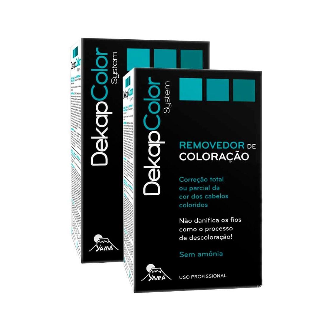 Kit com 2 Removedores de Coloração Dekapcolor Sytem 400ml - Yamá
