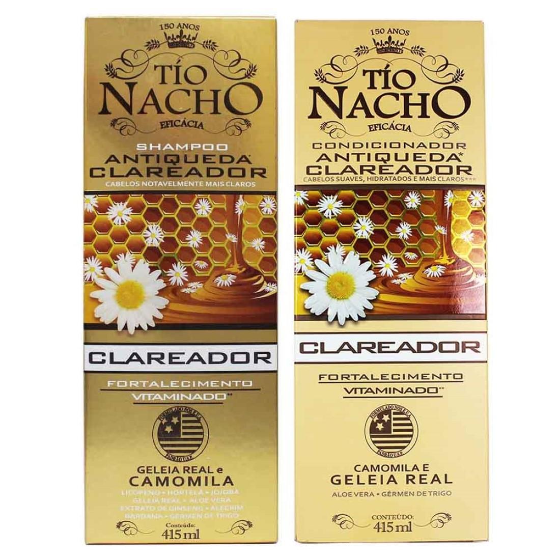 Kit Shampoo e Condicionador Clareador 415ml - Tío Nacho