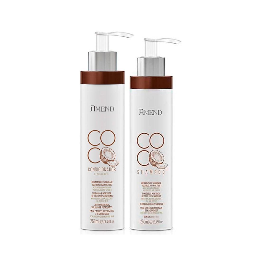 Kit Shampoo e Condicionador Coco 250ml - Amend