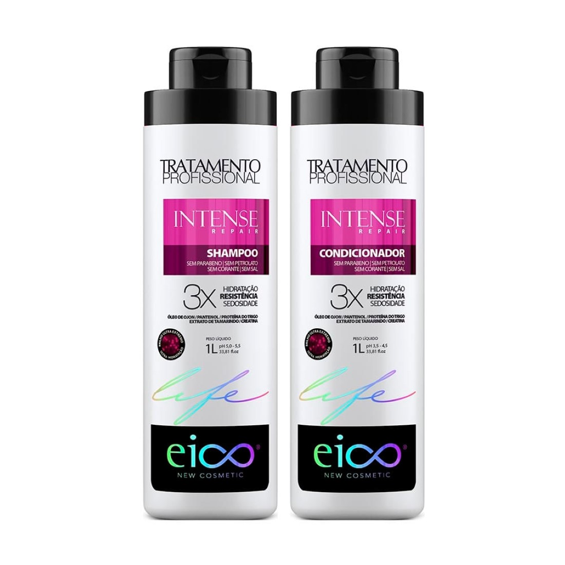Kit Shampoo e Condicionador Intense Repair 1L - Eico