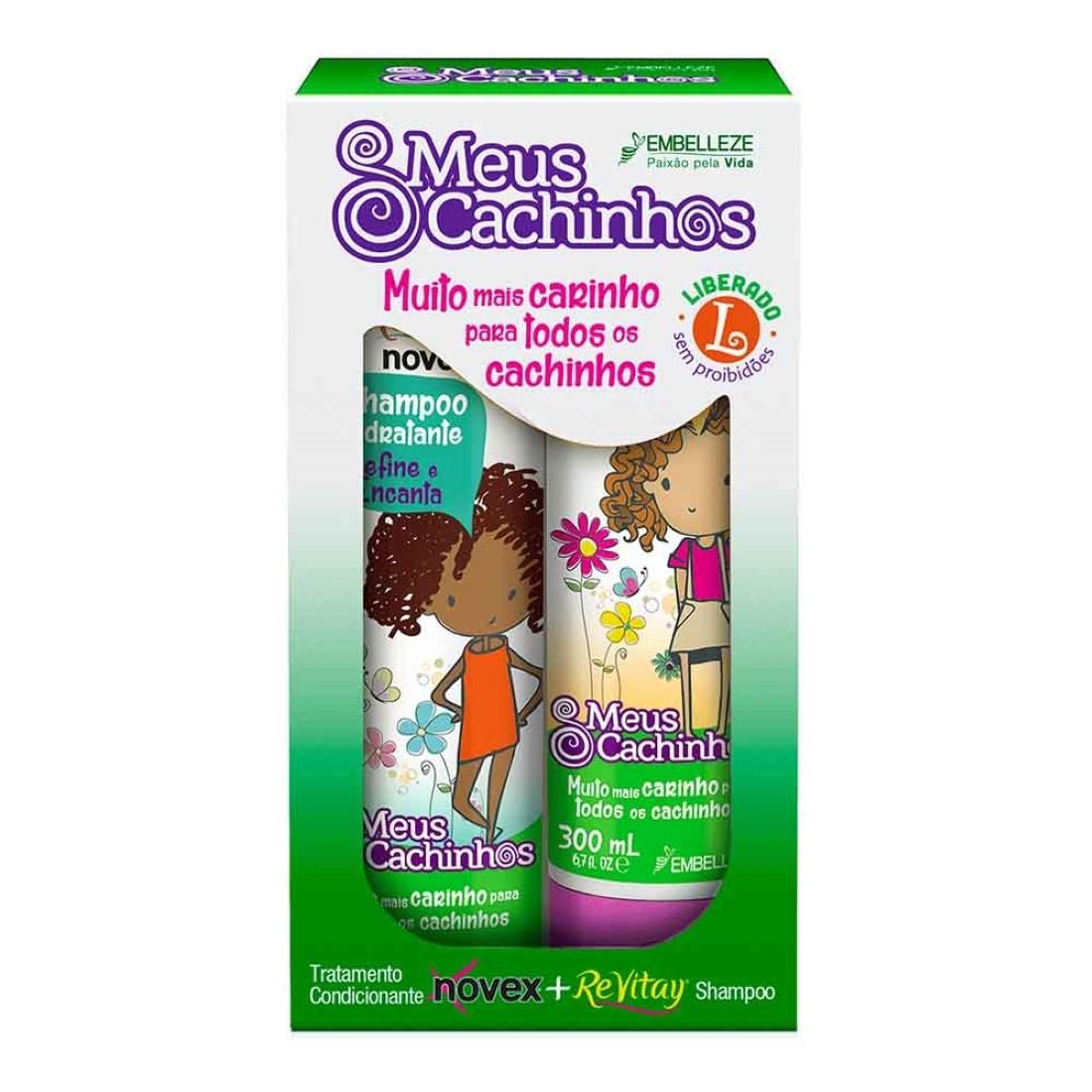 Kit Shampoo e Condicionador Meus Cachinhos Novex - Embelleze