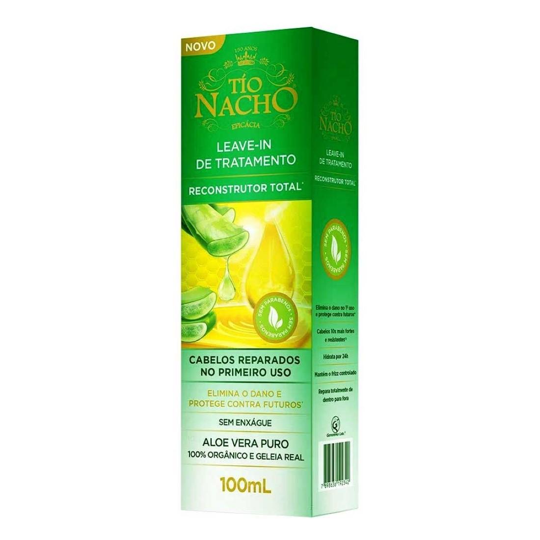 Leave-in de Tratamento Reconstrutor Total 100ml - Tío Nacho