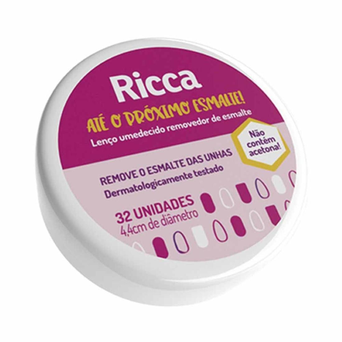 Lenço Umedecido Removedor de Esmalte 32unid - Ricca
