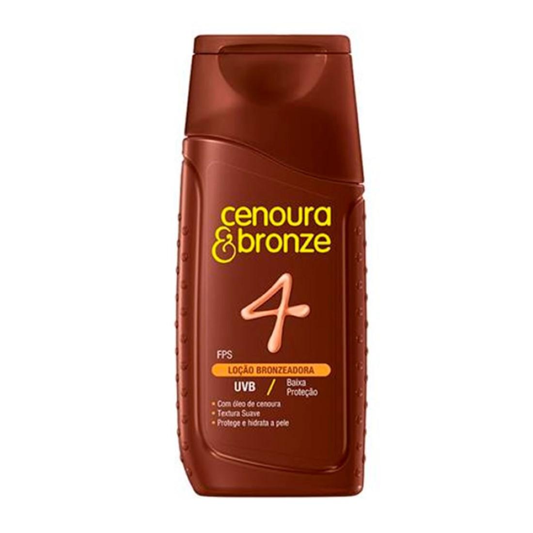 Loção Bronzeadora FPS 4 110ml - Cenoura & Bronze