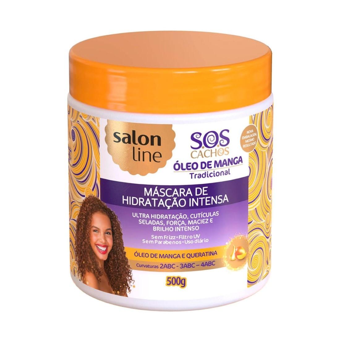 Máscara De Hidratação Intensiva Cachos S.O.S 500g- Salon Line
