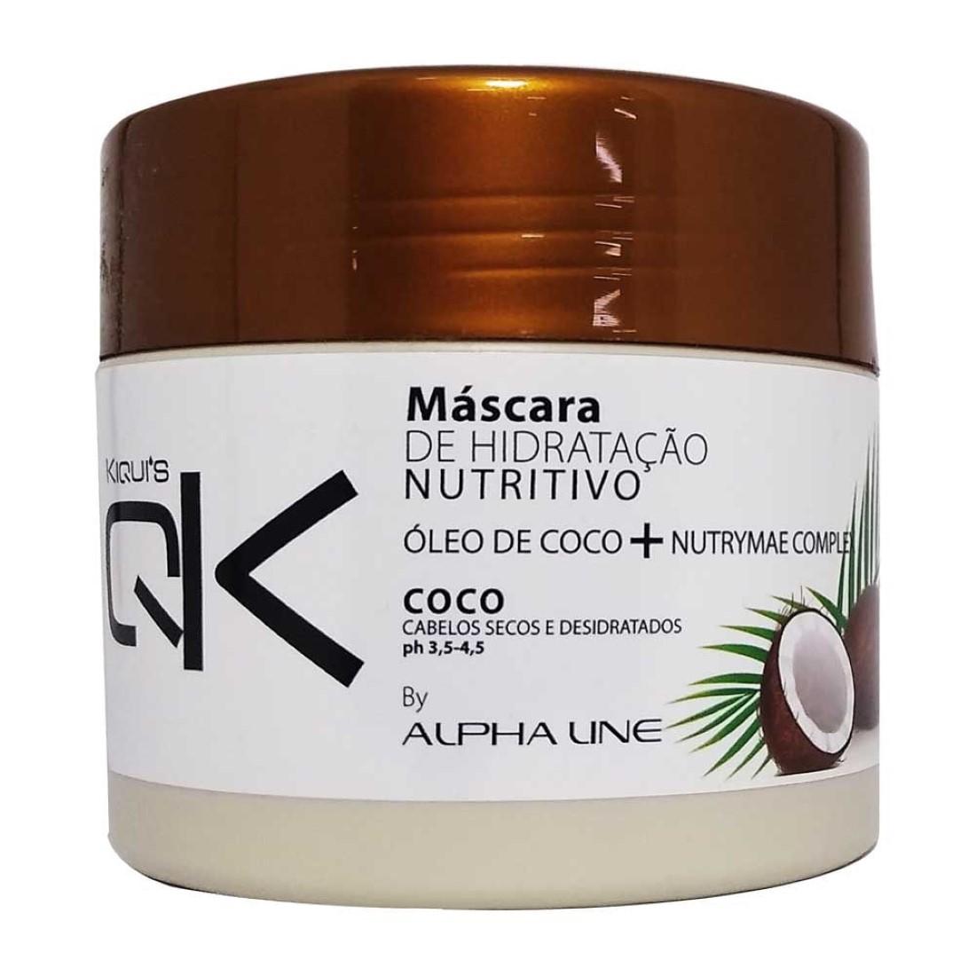 Máscara de Hidratação Óleo de Coco 350g - Kiqui's