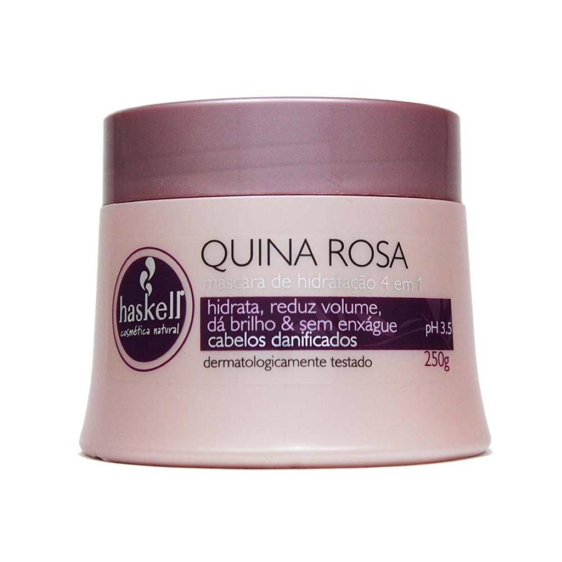 Máscara Quina Rosa 250g - Haskell