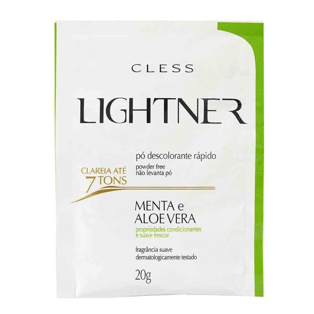 Pó Descolorante Lightner Menta 20g - Cless