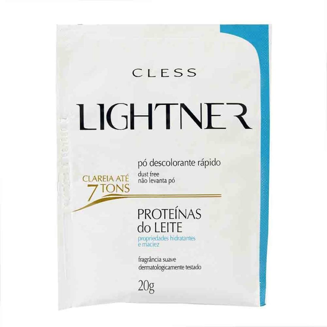 Pó Descolorante Lightner Proteínas do Leite 20g - Cless