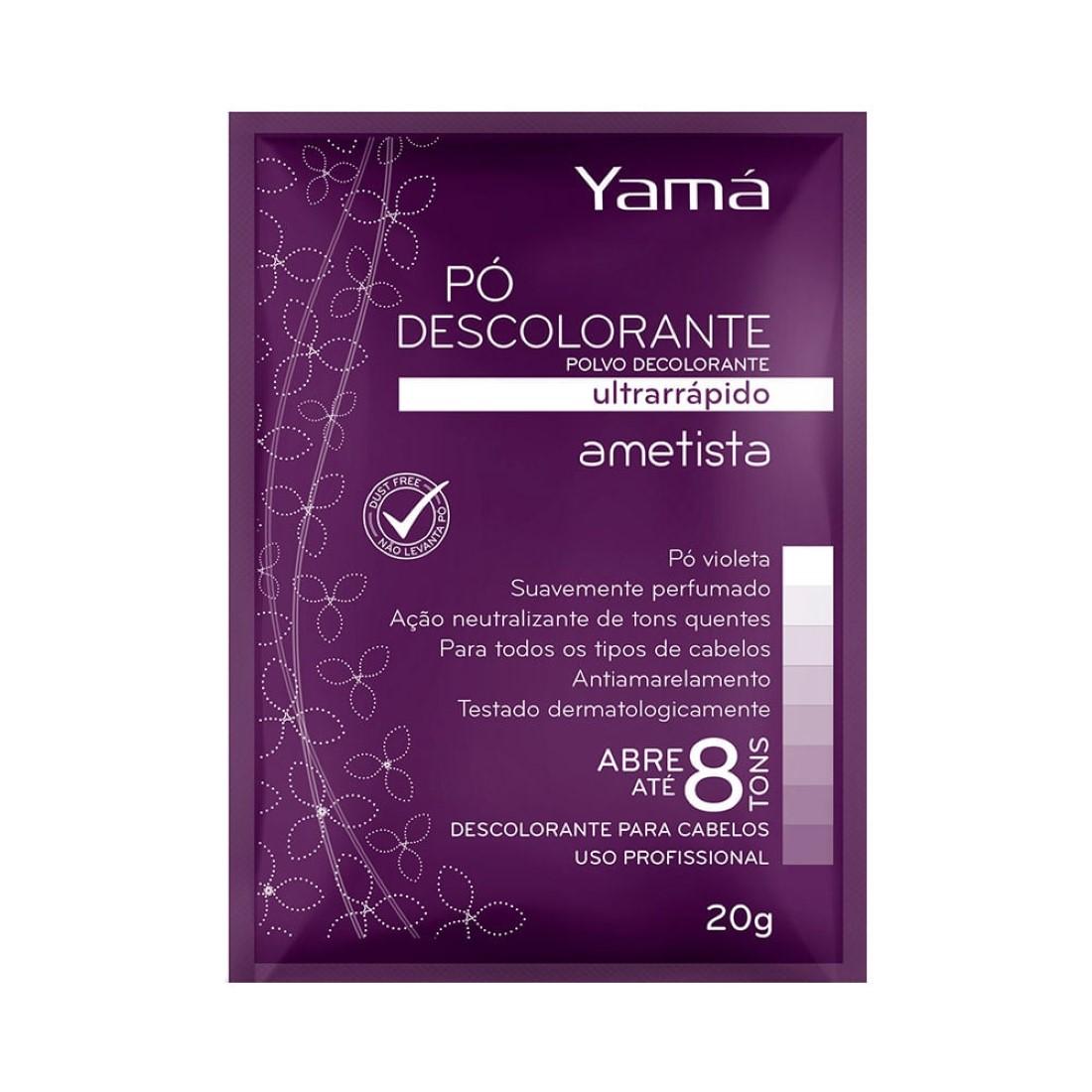 Pó Descolorante Ultra Rápido Ametista 20g - Yamá