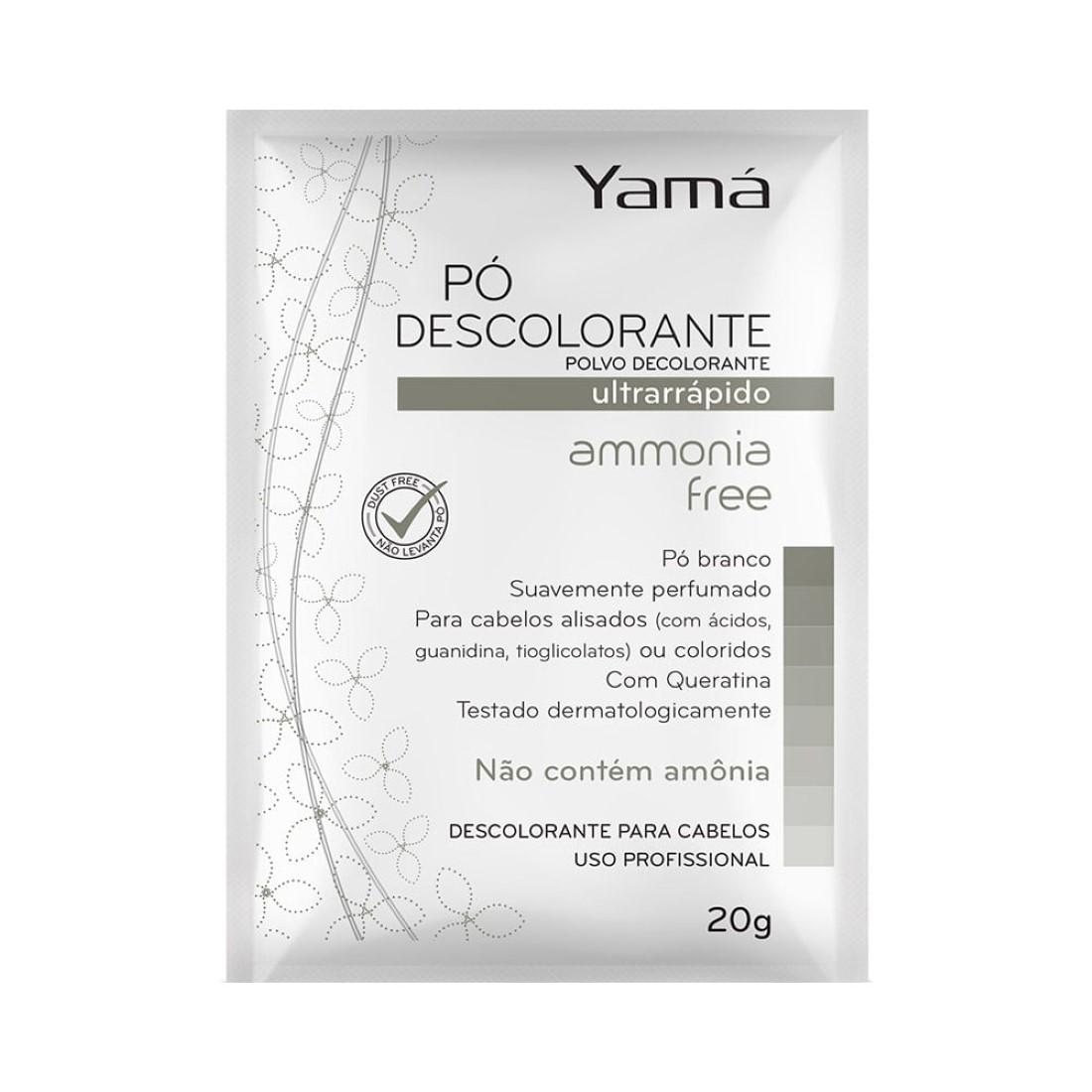 Pó Descolorante Ultra Rápido Ammonia Free 20g - Yamá