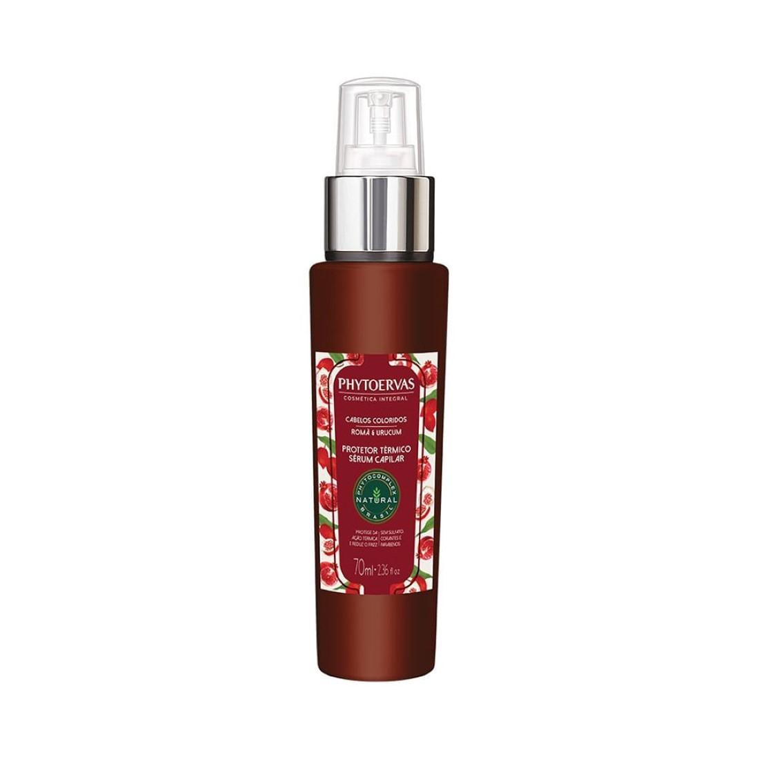 Protetor Térmico Cabelos Coloridos Romã e Urucum 70ml - Phytoervas