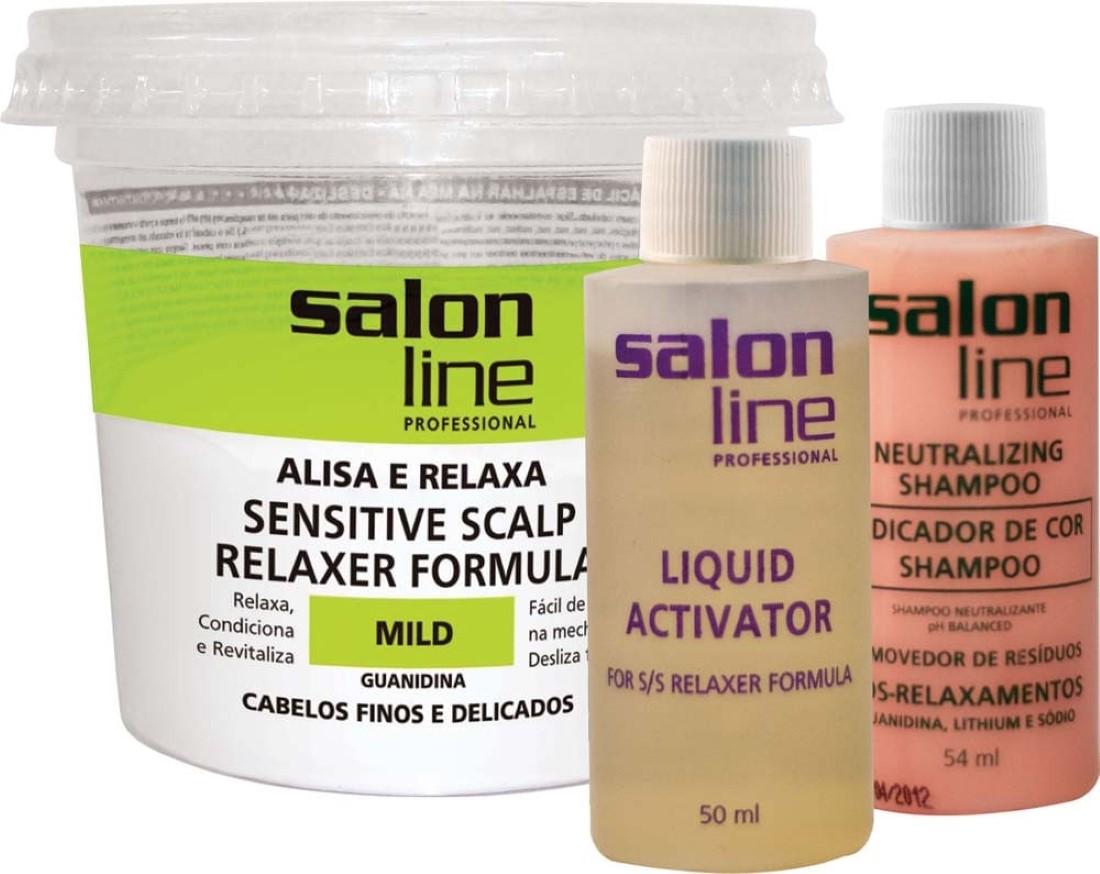 Relaxamento Guanidina Sensitive Scalp Mild Cabelos Finos - Salon Line