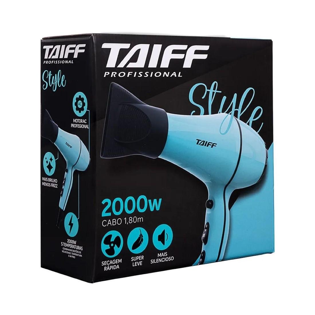 Secador Style 2000w Azul Tiffany 127V - Taiff