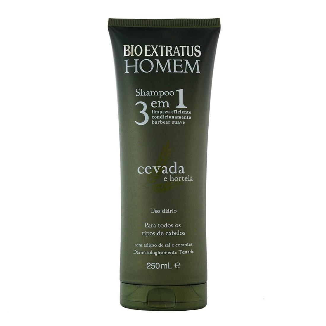 Shampoo 3 em 1 Homem 250ml - Bio Extratus