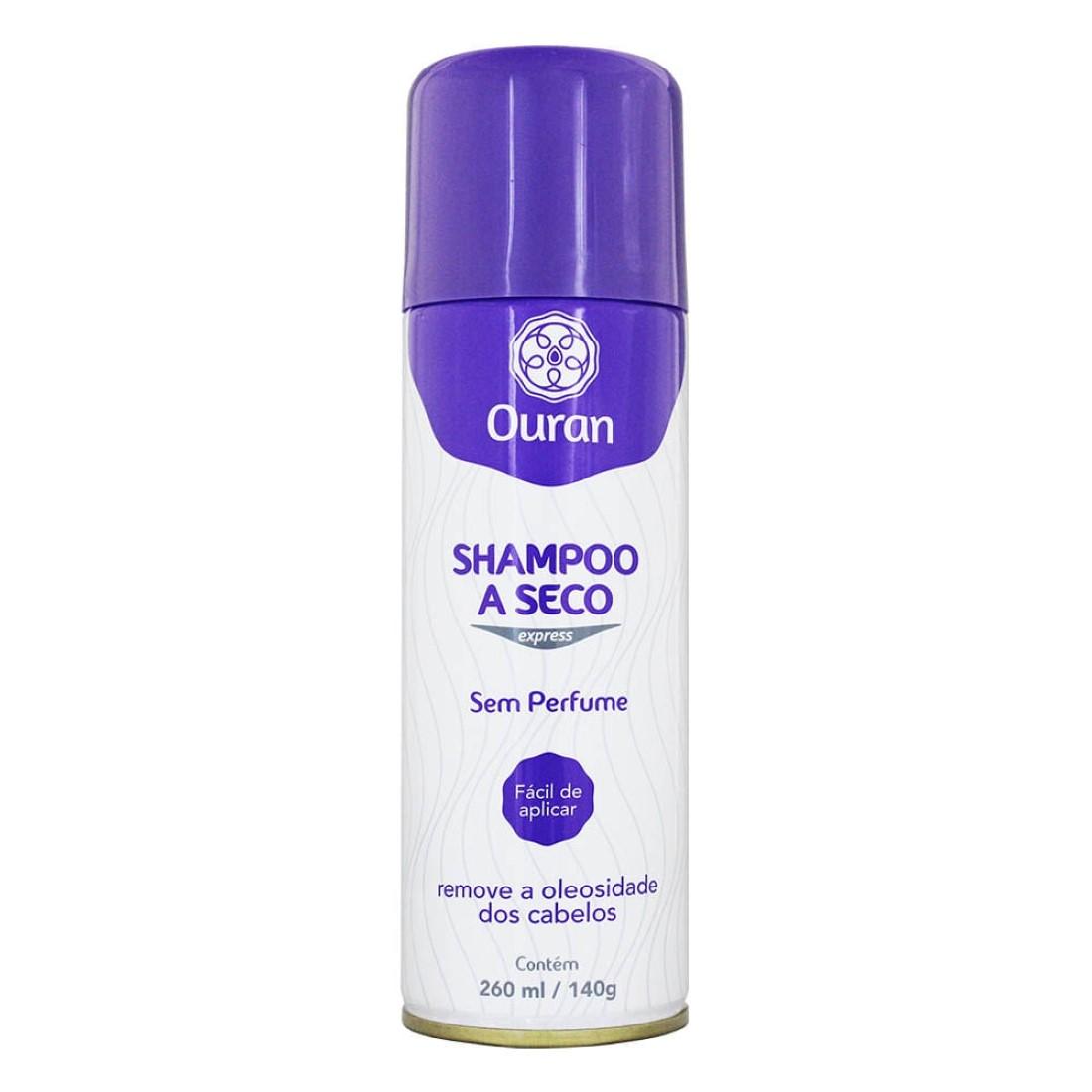 Shampoo a Seco Express Sem Perfume 260ml - Ouran