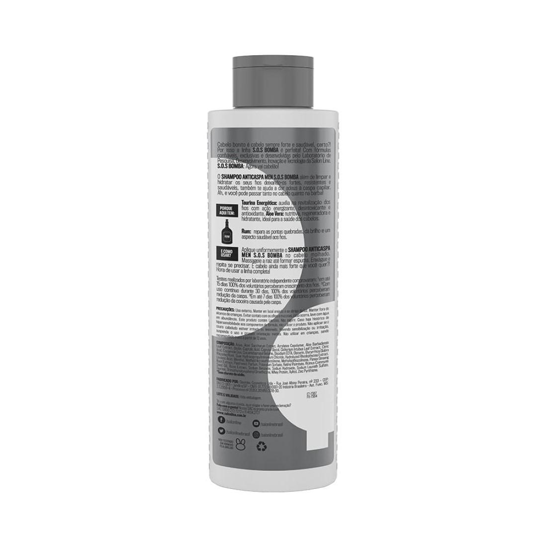 Shampoo Anticaspa Men SOS Bomba 300ml - Salon Line