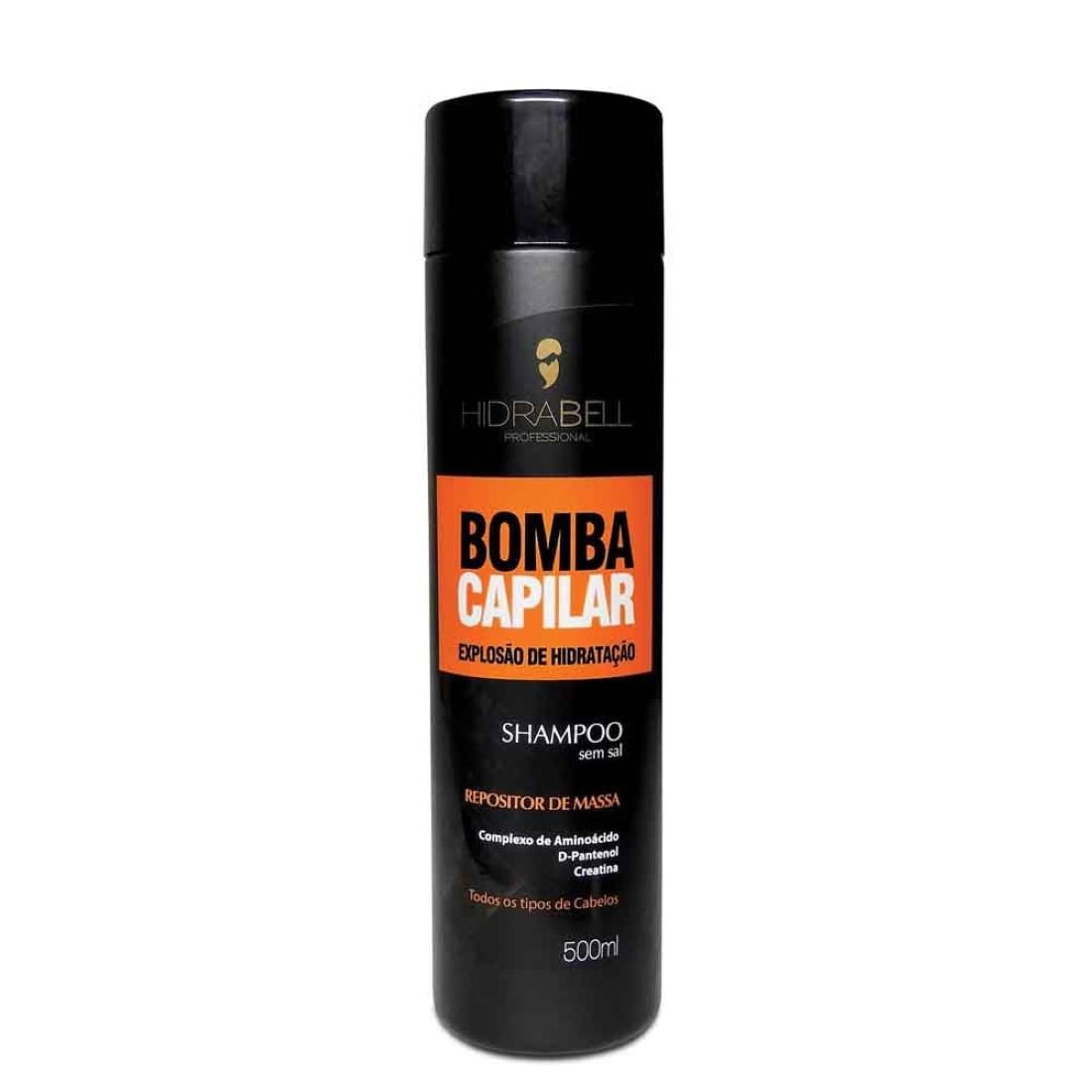 Shampoo Bomba Capilar Repositor de Massa 500ml - Hidrabell