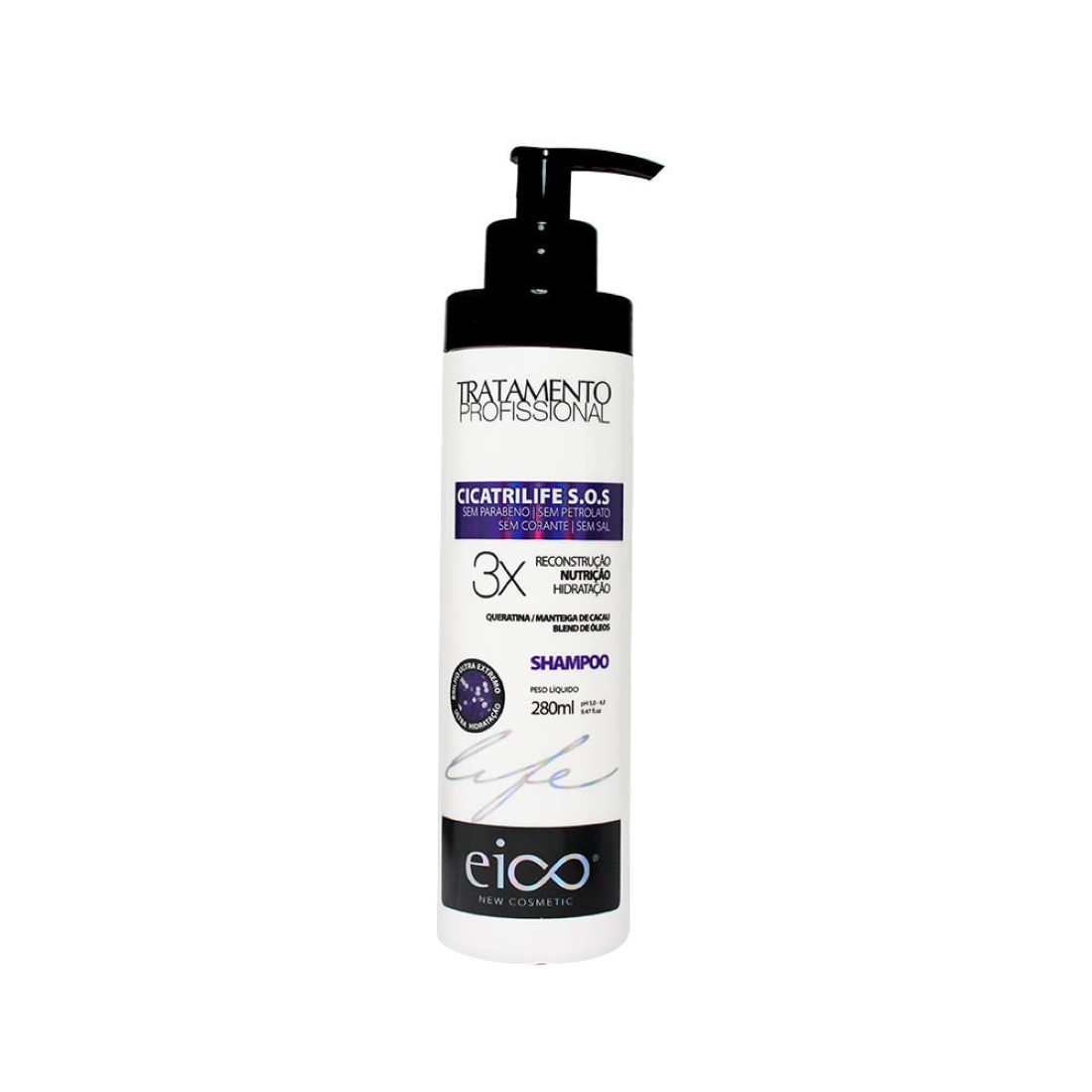 Shampoo Cicatrilife S.o.s Tratamento Profissional 280ml - Eico