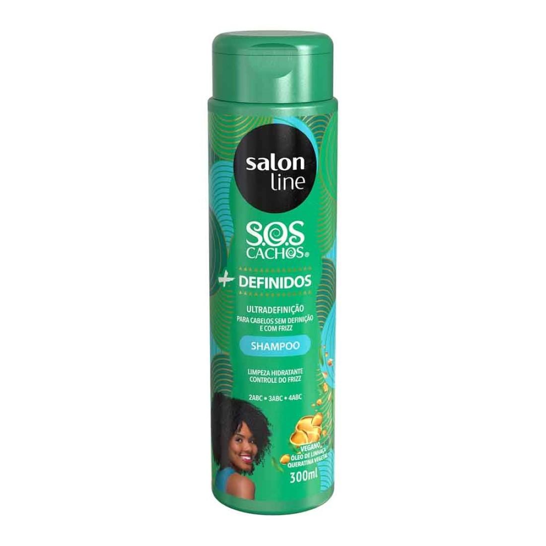 Shampoo + Definidos S.O.S Cachos 300ml - Salon Line