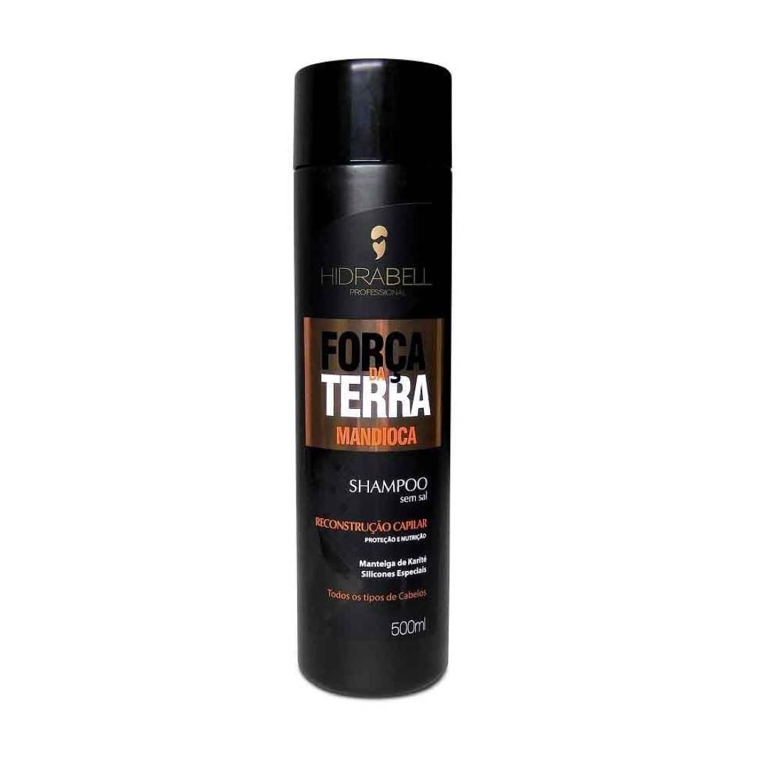 Shampoo Força da Terra Mandioca 500ml - Hidrabell