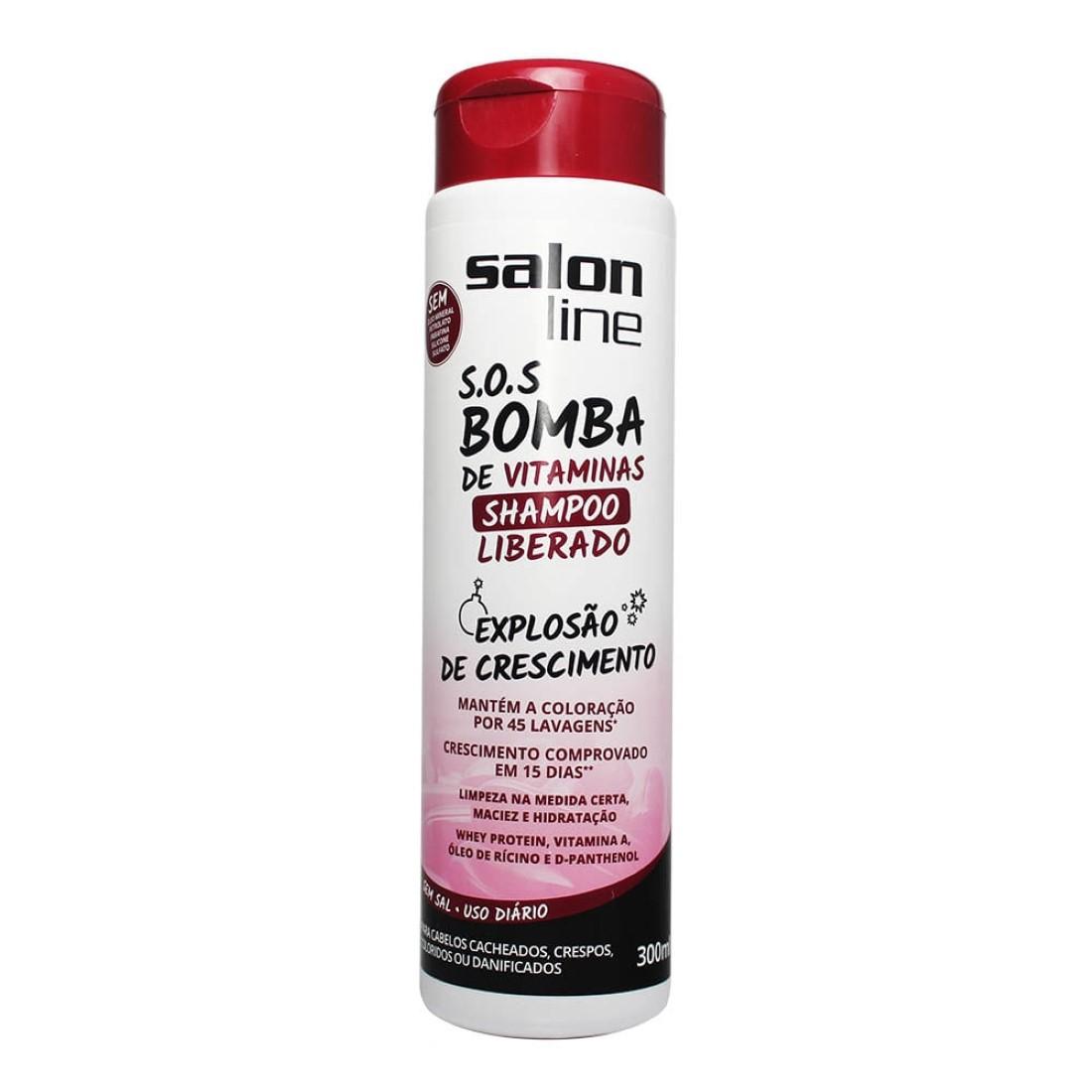 Shampoo Liberado SOS Bomba de Vitaminas 300ml - Salon Line